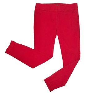LOFT Petites Red Marisa Skinny Pants